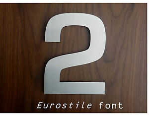 Large contemporary stainless steel house letter number for Big modern house numbers