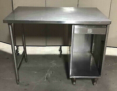 Stainless Steel 48 X 30 Table With Drawer Work Desk Bench Cabinet