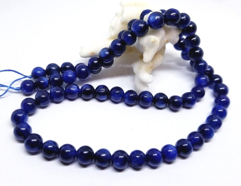 "RARE NATURAL FABULOUS CASHMERE BLUE KYANITE ROUND BEADS 6mm 16"" AAAA+++"