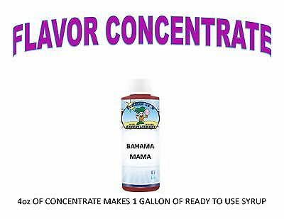 Bahama Mama Syrup Mix Shaved Ice Snow Cone Flavor Concentrate Makes 1 Gallon