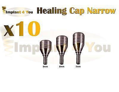 X10healing Caps For Dental Implant Abutment Internal Hex Lab Narrow Platform