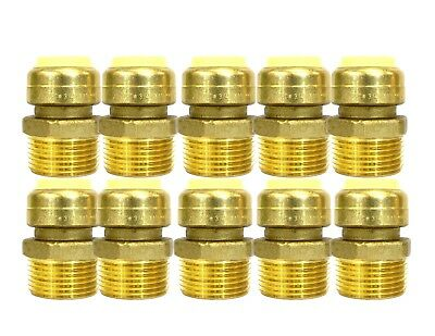 12 Sharkbite Style Push-fit Brass Male Adapter Pack Of 10 Connect Fitting