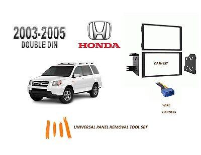 NEW 2003-2005 HONDA PILOT Car Stereo DOUBLE DIN Dash Kit, Wire Harness 2005 Honda Pilot Dash