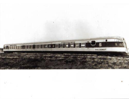 "Black & White photo Boston Providence Train ""The Comet"""