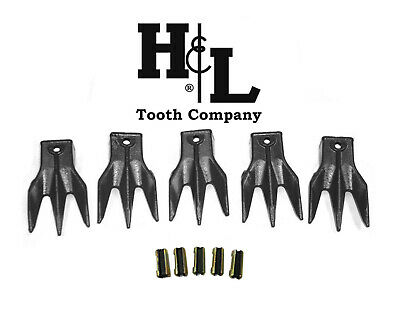 6737325 Tr3 Triple Tiger Trident Bobcat Style Bucket Teeth 5 Pack By Hl Tooth