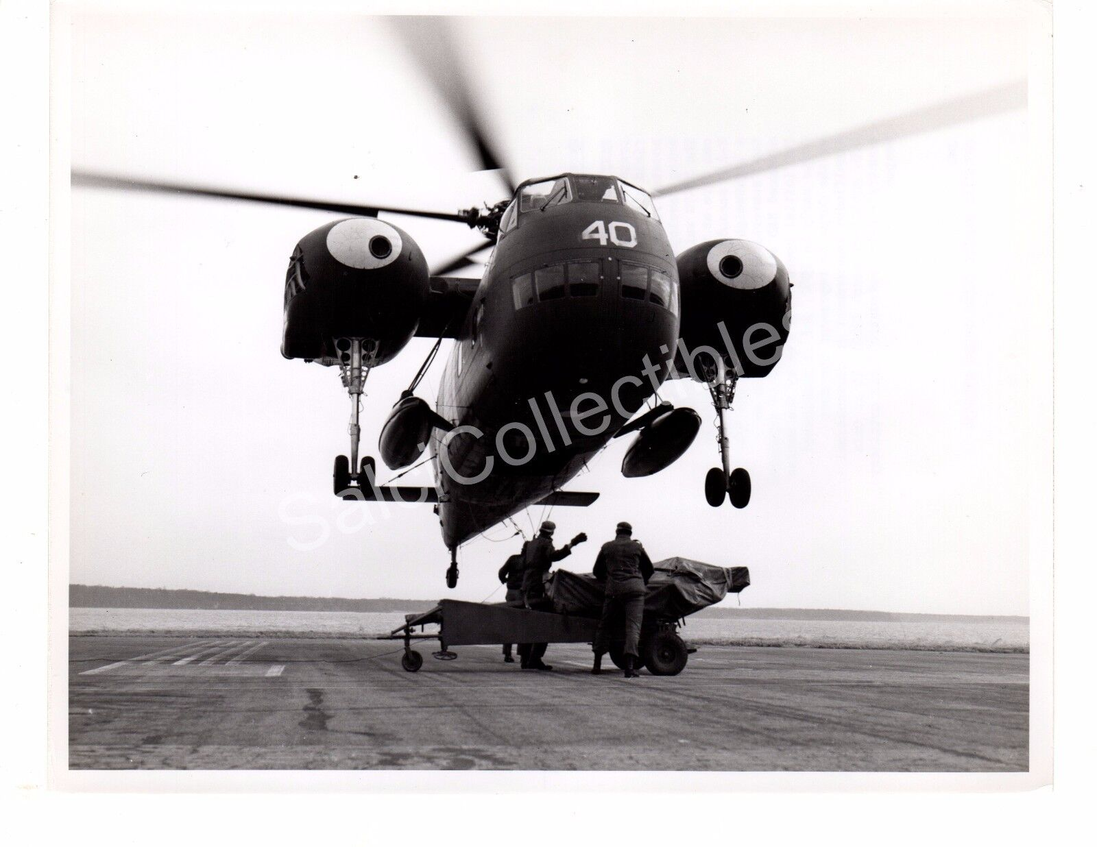2dc0a233 Historical US Navy Aircraft Helicopter USS Mojave HR2S-1 Official Photo 8x10
