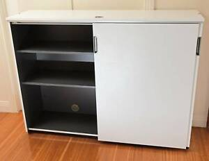 Ikea Cabinet Credenza : Ikea galant office cabinet credenza with sliding doors white
