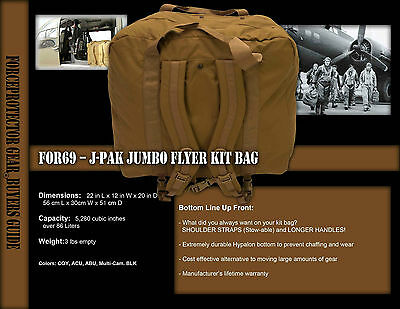 FOR69 - J-Pak Coyote Jumbo Flyer Kit Bag by Forceprotector Gear