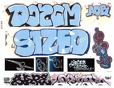 G SCALE GRAFFITI DECALS G19 FROM REAL GRAFFITI PHOTOS