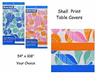 Seashell Table Cover, Beach, Luau, Graduation, 54