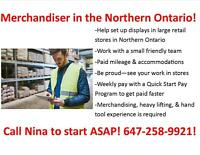 WORK IN NORTHERN ONTARIO - RETAIL MERCHANDISER!