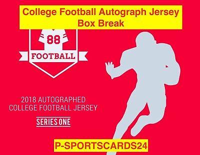 2018 HIT PARADE COLLEGE AUTOGRAPH FOOTBALL JERSEY LIVE BOX BREAK RANDOM TEAM-808