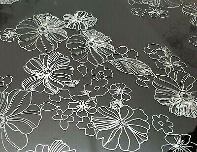 Tischfolie PVC Tischdecke Schutzfolie 90 cm Breite mit Muster 1,6 mm Stärke