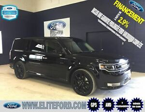 FORD FLEX LIMITED 2018, CUIR, TOIT, GPS,AWD