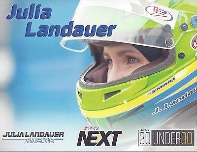 2017 Julia Landauer  Nascar Next  Nascar K N West Series Postcard