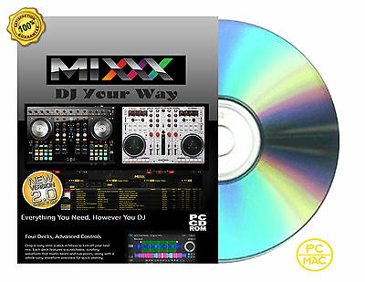 Professional to beginner DJ Mixxx mixing Application Software For PC/Mac CDROM