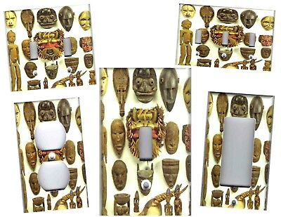 - AFRICAN TRIBAL MASKS HOME WALL DECOR LIGHT SWITCH PLATES AND OUTLETS