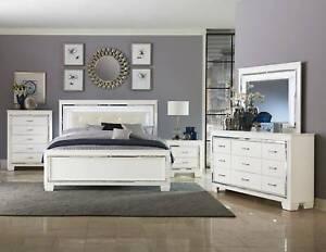 Brand New Allura Queen Bed Frame in White
