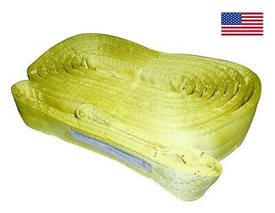 Usa 4 X 20 Nylon Web Lifting Sling Crane 4 Ply Tow-strap Ee4-904 Tow Recovery