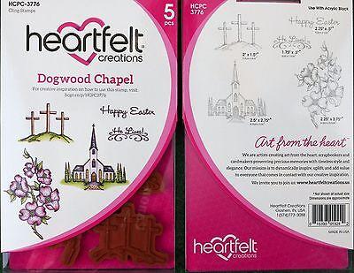 Heartfelt Creations Flowering Dogwood Chapel  5 pc Stamp Set HCPC- 3776