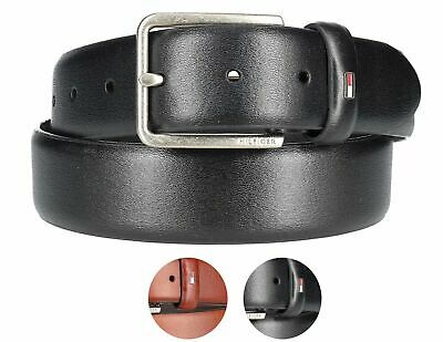 - Tommy Hilfiger Men's Premium Smooth Feather Edge Leather 35MM Belt 11TL01X049