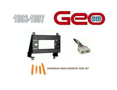 - Fits GEO PRIZM 1993-1997 CAR STEREO INSTALL DASH KIT,WIRE HARNESS