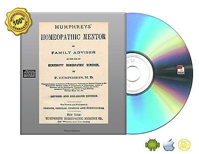 Humphreys Homeopathic Mentor  Or  Family Health Adviser Book On Cd