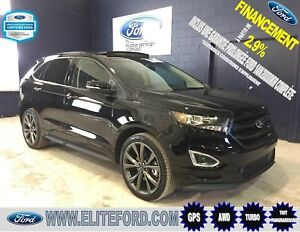 FORD EDGE SPORT 2018, AWD, GPS, ÉCOBOOST