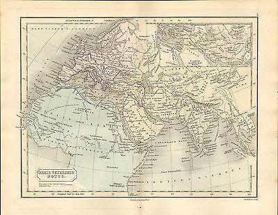 antient geography map by samuel butler 1869 - orbis veteribus notus