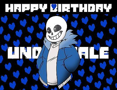 Personalized Cake Toppers (Undertale Personalized Edible Print Premium Cake Topper Frosting Sheets 5)