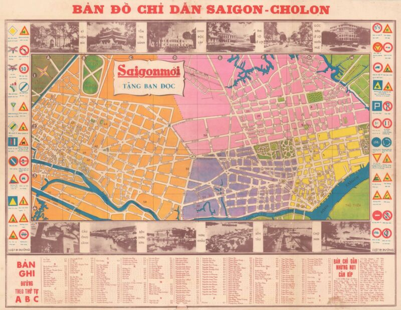 1960 Saigon Moi City Map or Plan of Saigon, South Vietnam
