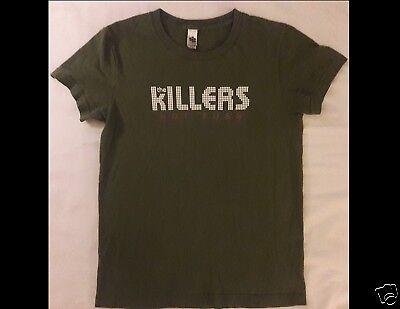 THE KILLERS Hot Fuss Junior Size Medium Green T-Shirt