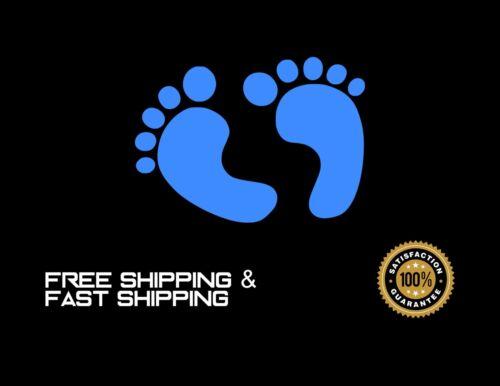 Baby, Baby feet, Car Decal, Sticker, Vinyl, BLUE 4