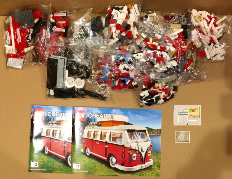 Lego Camper VW Volkswagen 10220 Bus NEW Sealed Bags Instructions Decals NO BOX