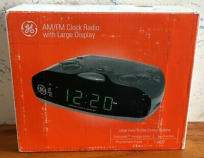 Vintage 1993 GE AM/FM Alarm Clock Radio 7-4837 LARGE Display NEW IN OPEN BOX