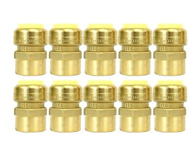 12 Sharkbite Style Push-fit Brass Female Adapter Pack Of 10 Connect Fitting