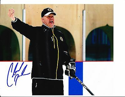 Boston Bruins Claude Julien Signed On Ice 8X10