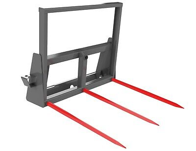 Square Hay Bale Spear Carriage 3 32.4 Tines Skid Steer Attachment Berlon Usa