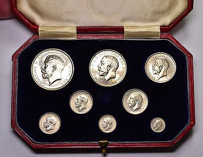 1911  PROOF SILVER SET HALFCROWN TO MAUNDY PENNY GEORGE V