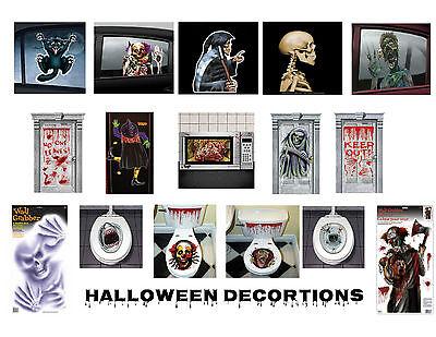 Halloween Ceiling Decorations (Halloween Party Decorations Door Window Toilet Grabbers)