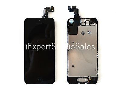 OEM Complete Black LCD Touch Digitizer Screen, Home Button, Camera for Iphone 5C on Rummage