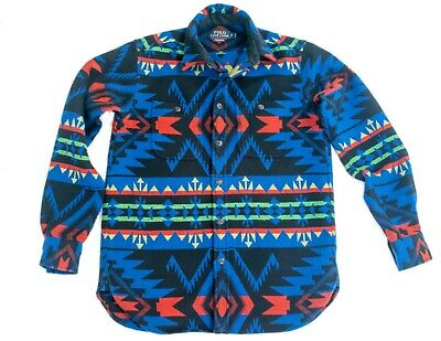 Ralph Lauren Polo SM Aztec Southwestern Heavy Flannel Shirt Relaxed Fit