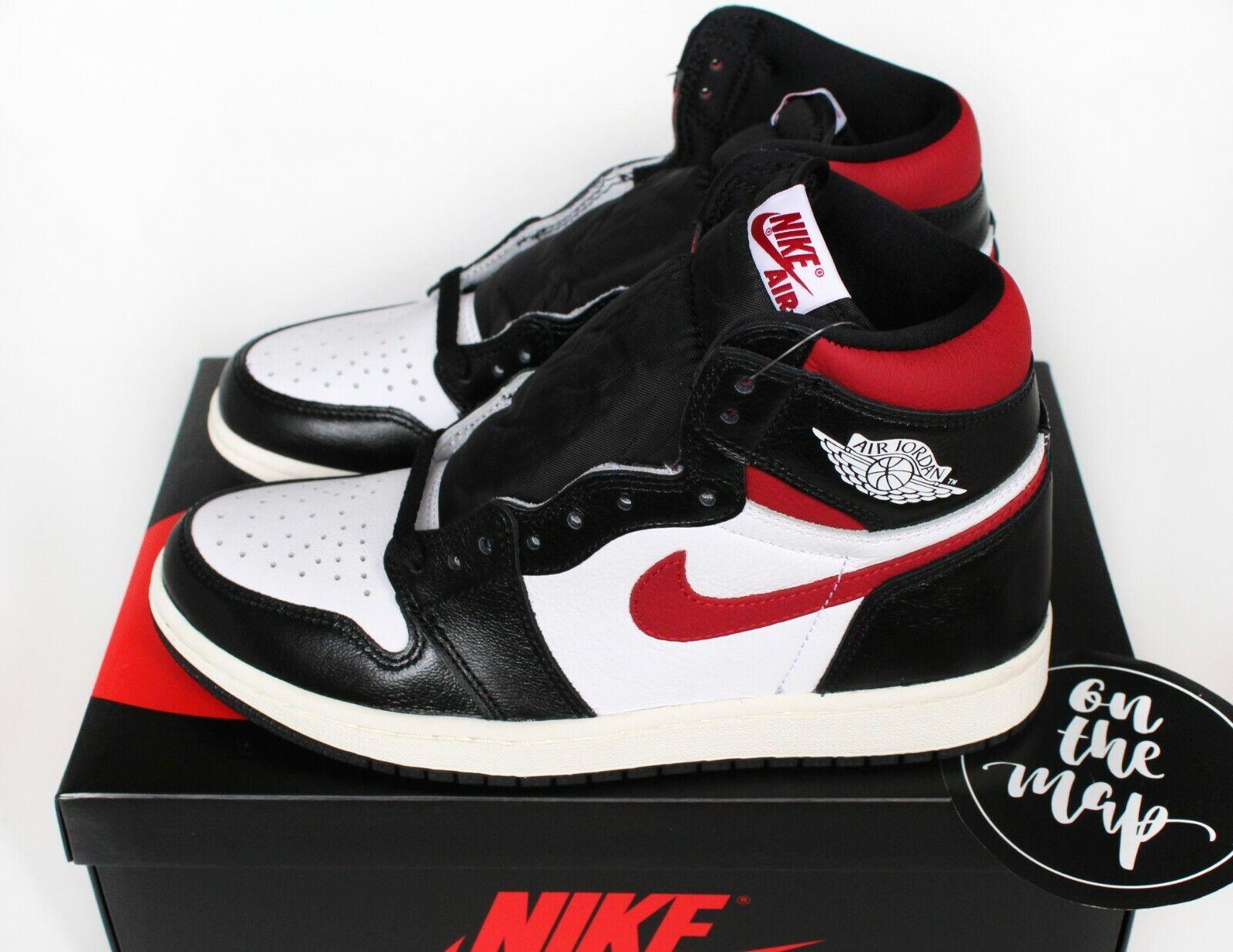 new style acf7b 68ea9 Nike Air Jordan 1 Retro High OG Black Gym Red White 2019 UK 5 6 US New