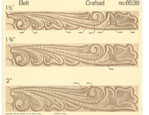 Vintage Tandy Leather Craftaid # 6539 Belt Unused in Original Package