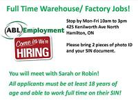 WALK IN TODAY FOR GENERAL LABOUR WORK IN HAMILTON!
