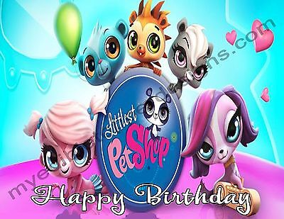 Littlest Pet Shop Personalized Edible Print Cake Topper Frosting Sheets 5 Sizes  ()