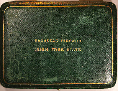 1928 Proof set in a green leather case