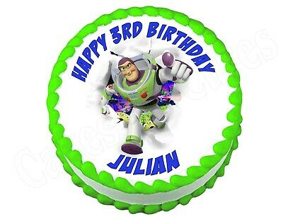 Buzz Lightyear Toy Story Round Edible Cake Image Topper for sale  Shipping to India