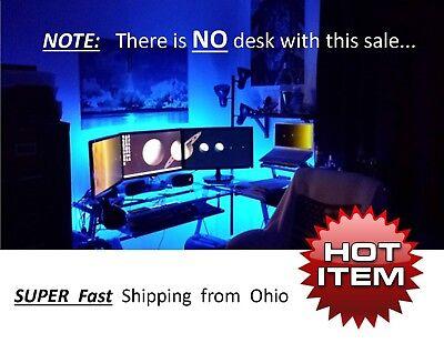COMPUTER Desk / Gaming DESK LED Lighting KIT - Remote Control - multi Color NEW