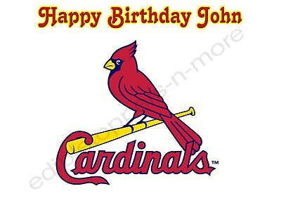 St. Louis Cardinals Personalized Edible Print Cake Topper Frosting Sheet 5 Sizes (St Louis Cardinals Party Supplies)